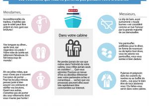 infographie dress code en croisière